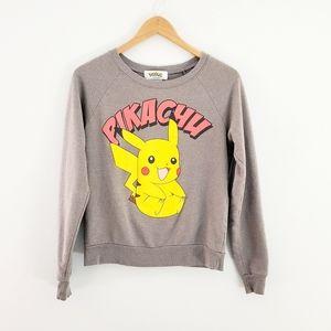 Pokemon pikachu gray sweatshirt small